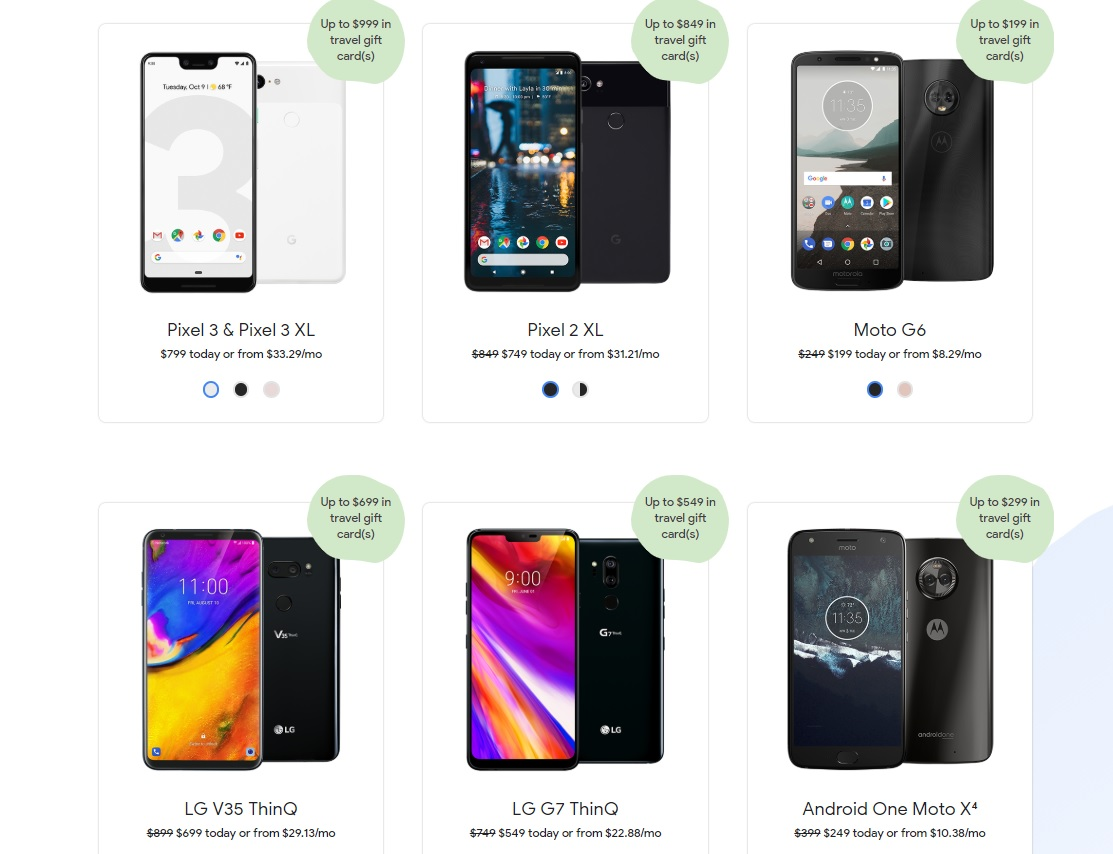 DEAD] WOW! Get a Google Fi phone & travel gift card worth