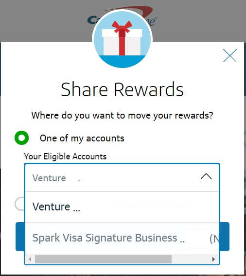 Now share Capital One miles with others