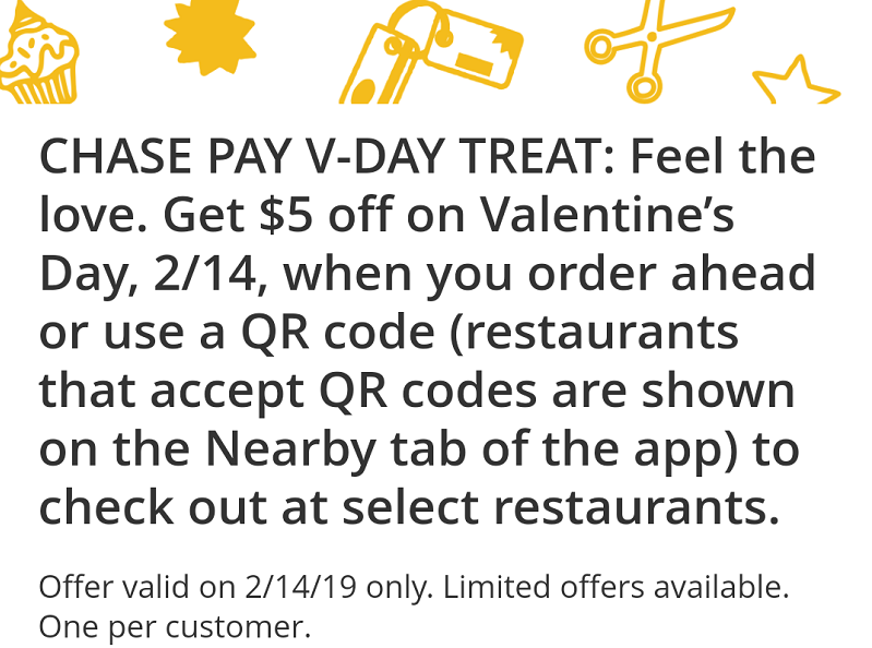 Chase Pay Valentine's Day