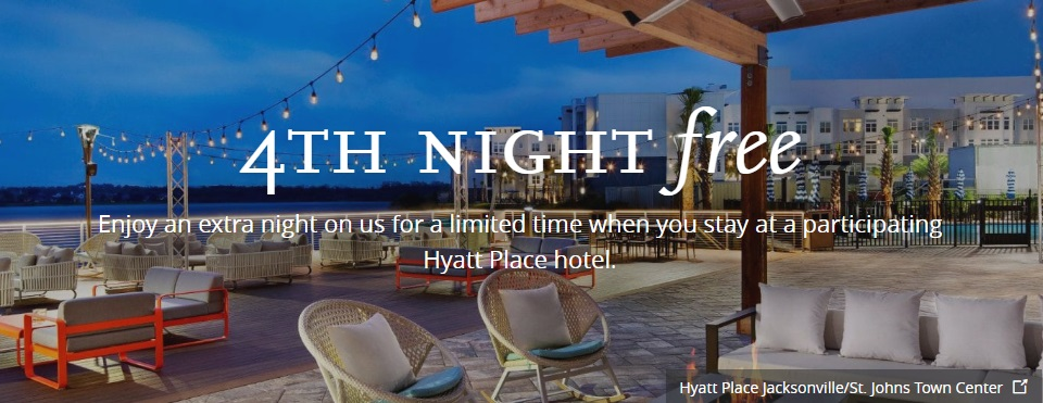 Hyatt Place 4th Night Free Promotion