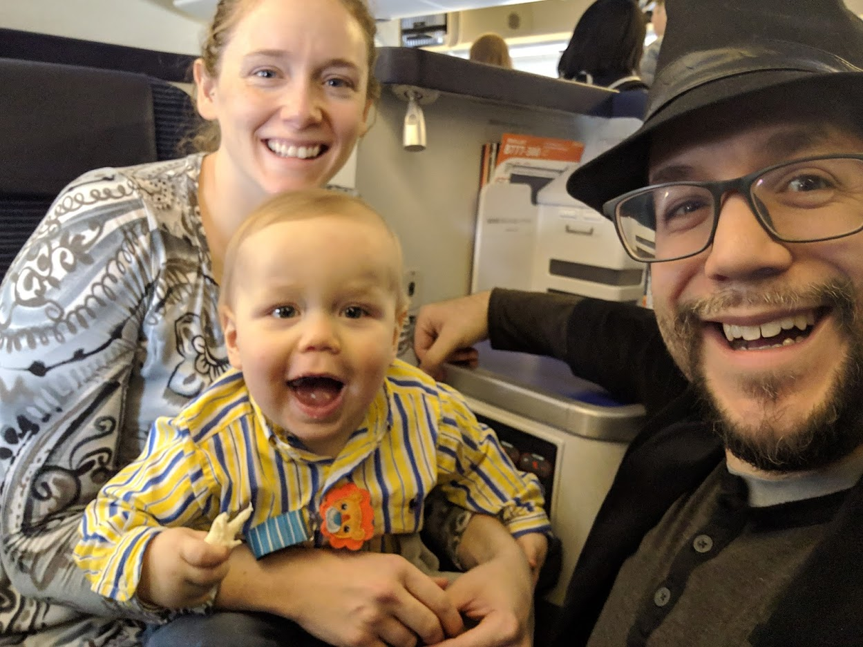 The baby in business class debate