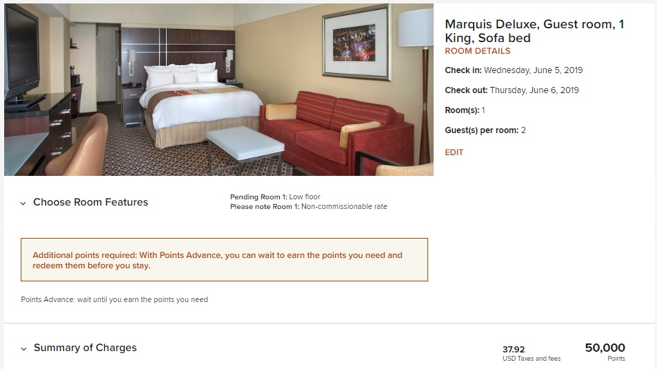 Marriott Purchase Points - More Than 1 Month
