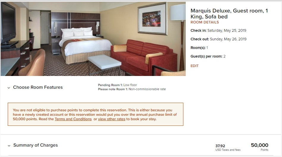 Marriott Purchase Points - Within 1 Month