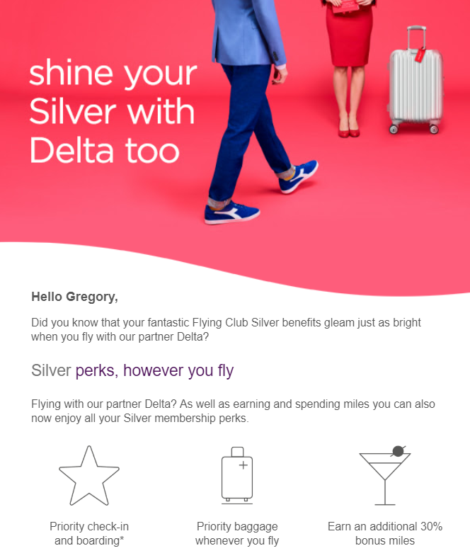 Credit Delta to Virgin Atlantic?