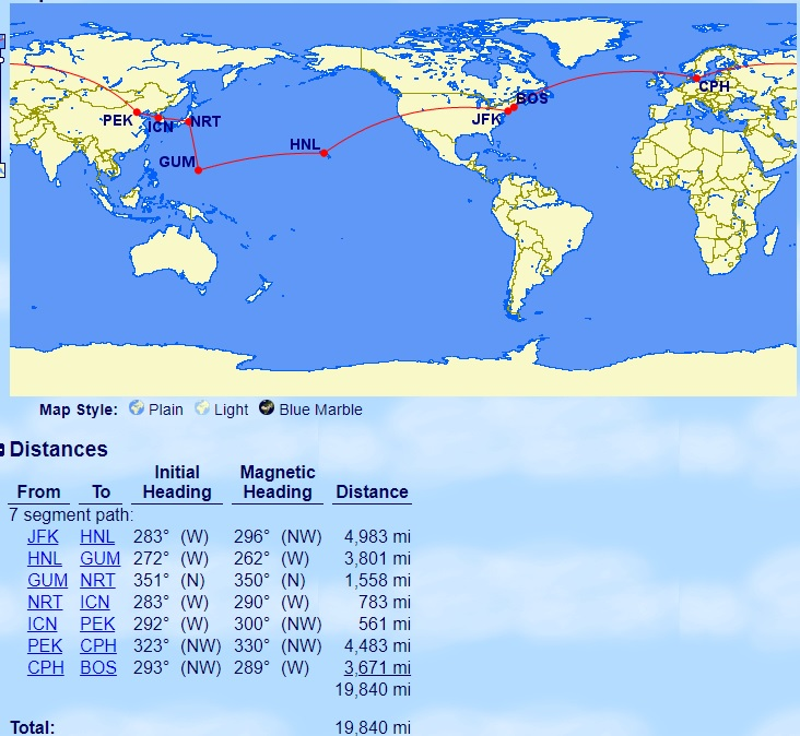 Around the world in business class for 115K [Sweet spot ...