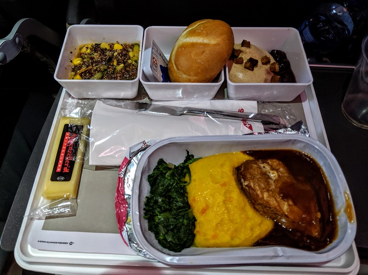 Economy meal on Swiss Air Lines