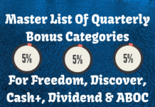 Master List Of Quarterly Bonus Categories For Freedom, Discover, Cash+, Dividend & ABOC