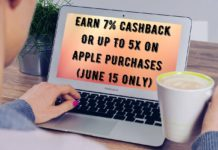 Earn 7% Cashback Or Up To 5x On Apple Purchases (June 15 Only)