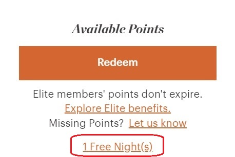 How To Redeem IHG Free Night Certificate 1