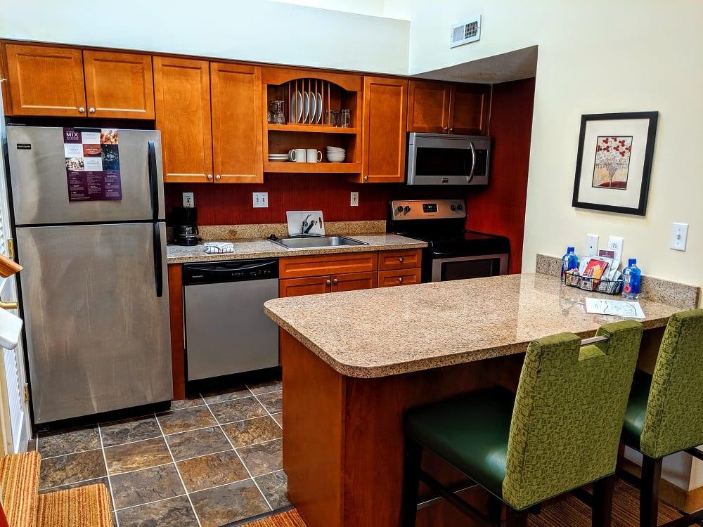 Kitchen at the Residence Inn Hartford Windsor, CT