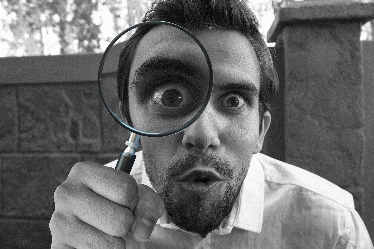 Lost Searching Magnifying Glass Found