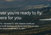 Amex Platinum Discounted Tickets