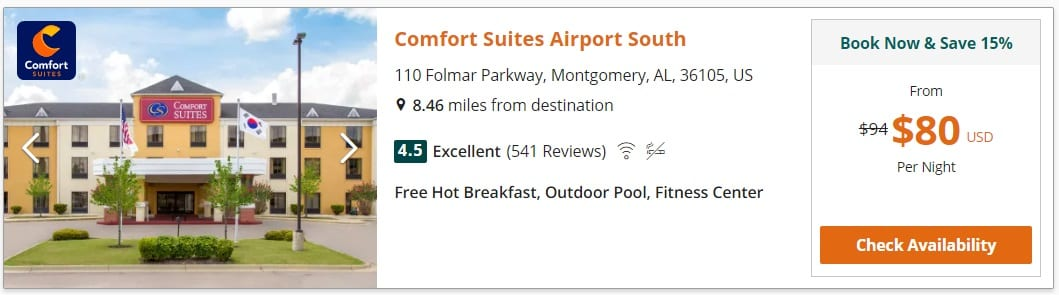 Choice Hotels - Spring search results 2