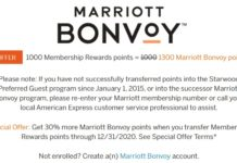 American Express Membership Rewards Marriott 30% Transfer Bonus